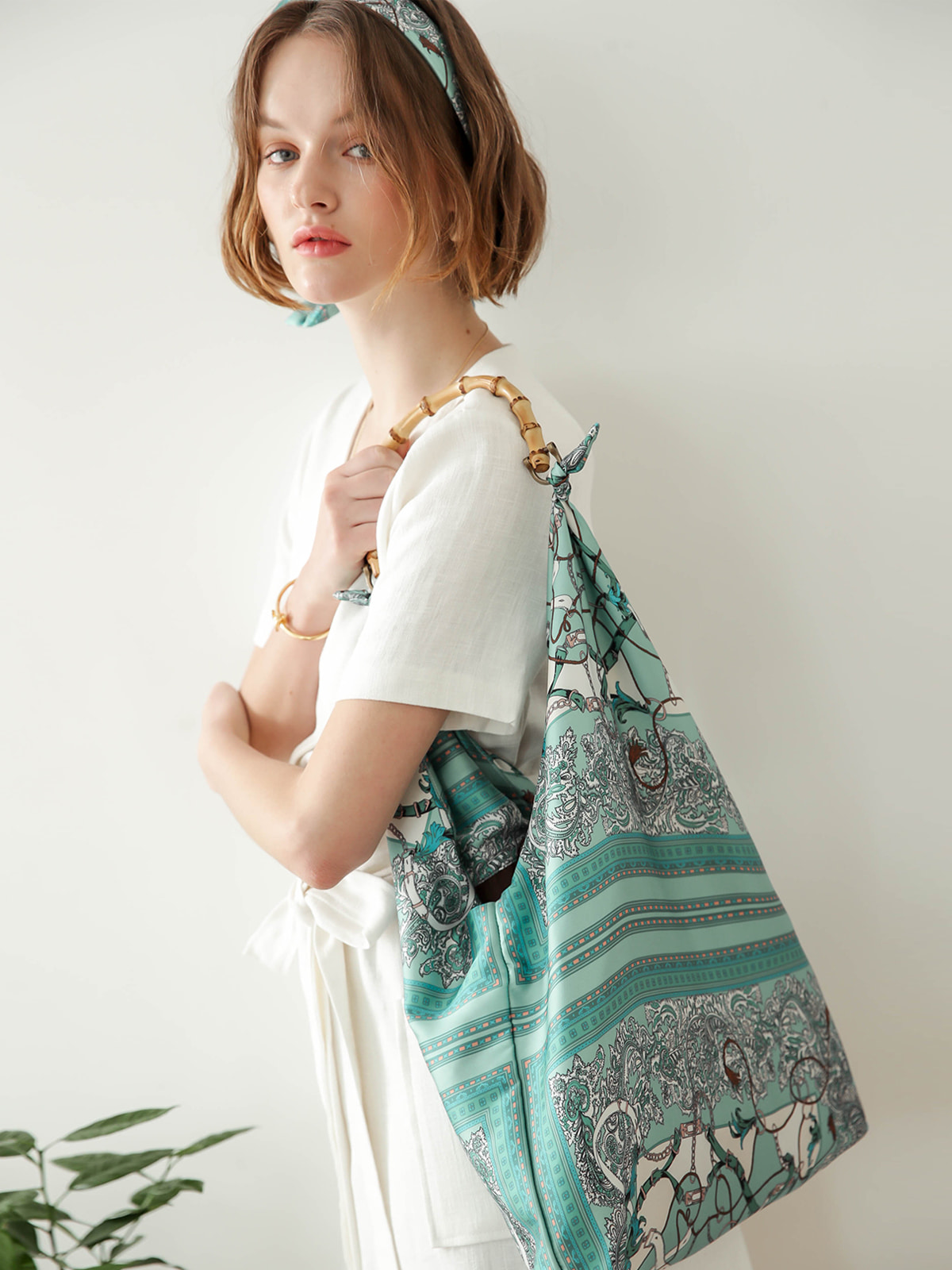 Jude Scarf Bag_Mint
